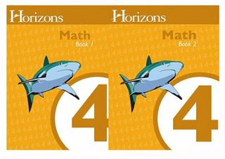 Horizons-math-4-workbooks-1-and-2